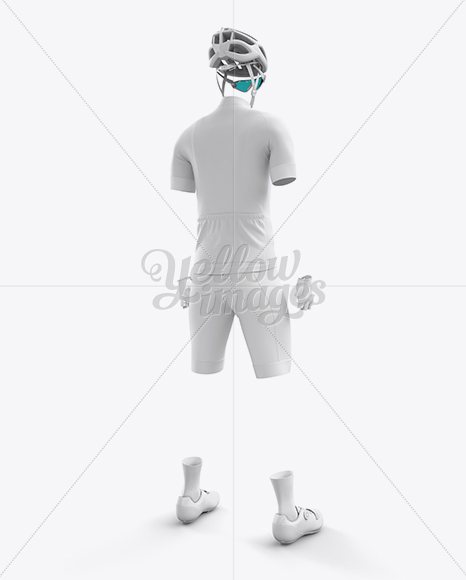 Download Mens Cycling Speedsuit Ls Mockup Back Half Side View Yellowimages