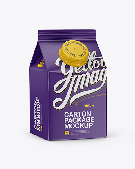 Download Carton Package With Plastic Cap Mockup - Half Side View Object Mockups