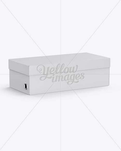 Download Shoes Box Mockup Half Side View High Angle PSD - Free PSD Mockup Templates