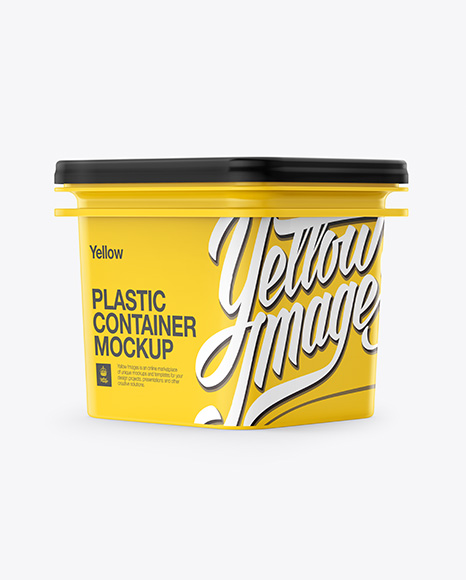 Download Free Plastic Container Mockup - Half Side View PSD Template
