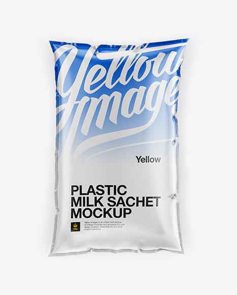 Milk Sachet Mockup Top View In Bag Amp Sack Mockups On