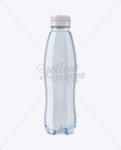Blue PET Bottle Mockup