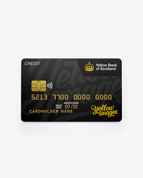 Download Credit Card Mockup - Front View Object Mockups