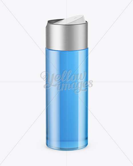 Download Clear Pet Bottle With Blue Liquid Mockup PSD - Free PSD Mockup Templates