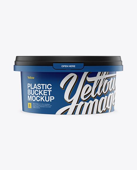 Download Matte Plastic Tub Mockup Object Mockups