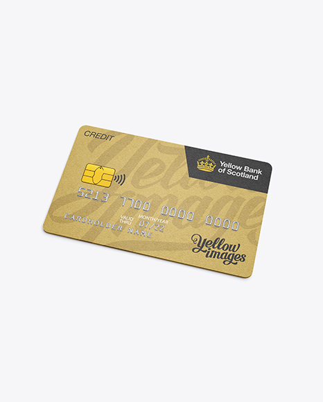 Free Psd Mockup Metal Credit Card Mockup High Angle Shot Object