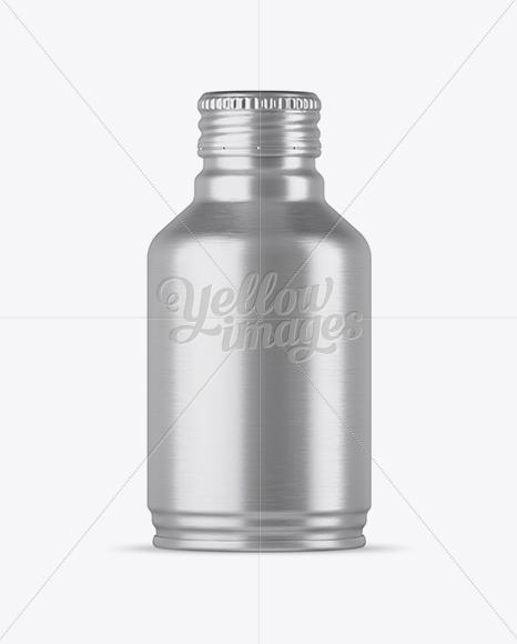 Textured Metal Drink Bottle Mockup In Bottle Mockups On Yellow