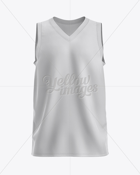 Download Basketball Jersey with V-Neck Mockup - Front View in ... Free Mockups