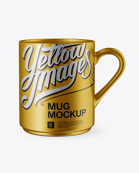 Metallic Mug Mockup
