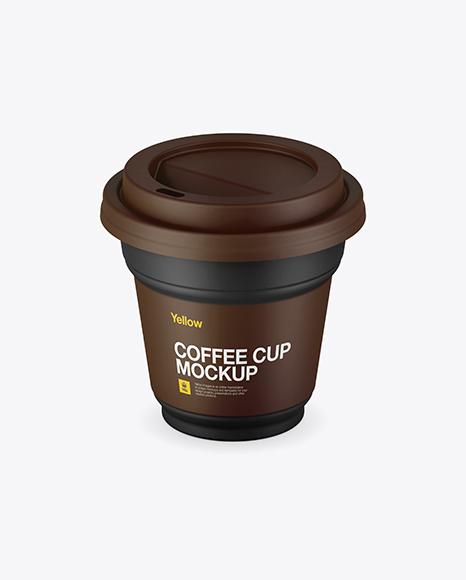 Download Matte Coffee Cup Mockup (High-Angle Shot) Object Mockups