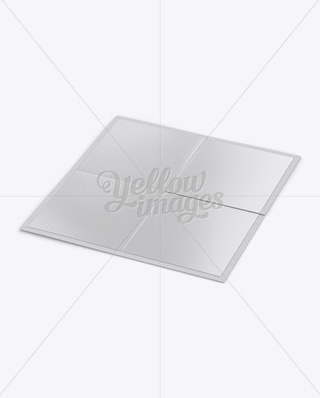 Carton Game Board Mockup - Half Side View (High-Angle Shot)