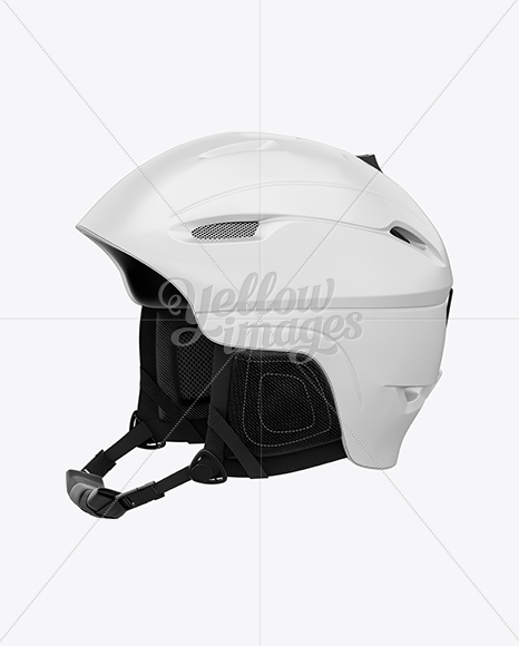 Download Cycling Helmet Mockup Back Half Side View Yellowimages