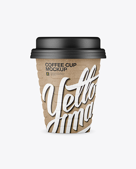Download Kraft Coffee Cup Mockup - Front View Object Mockups