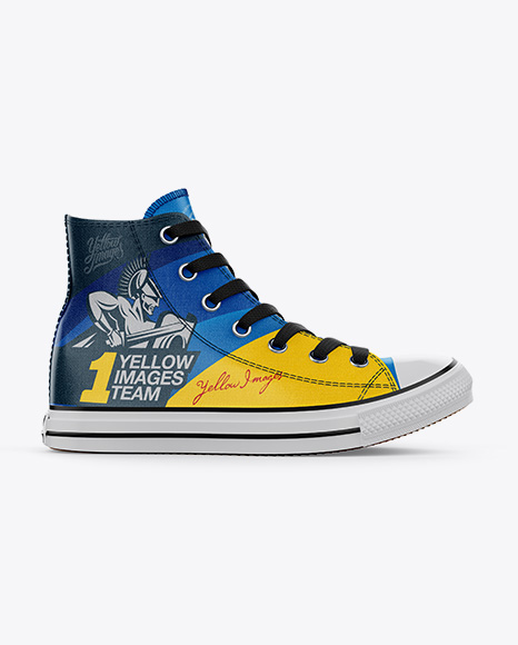 Download High Top Canvas Sneaker Mockup Back View Yellowimages