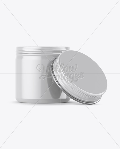 Download 100ml Round Tin Box With Glossy Finish Mockup Front View PSD - Free PSD Mockup Templates
