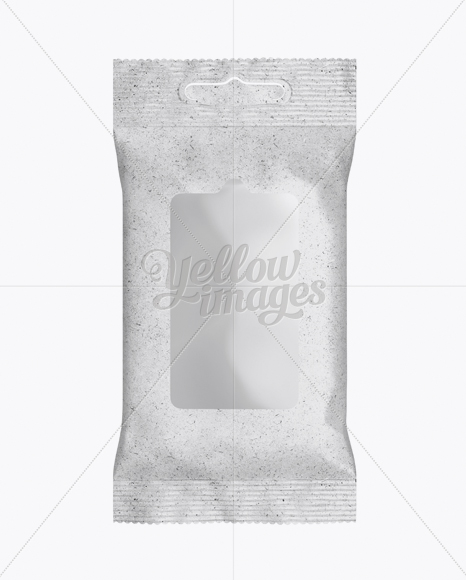 Kraft Wet Wipes Pack Mockup - Front View