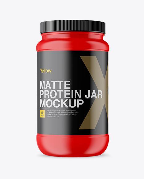 Download Free Matte Protein Jar Mockup PSD Template