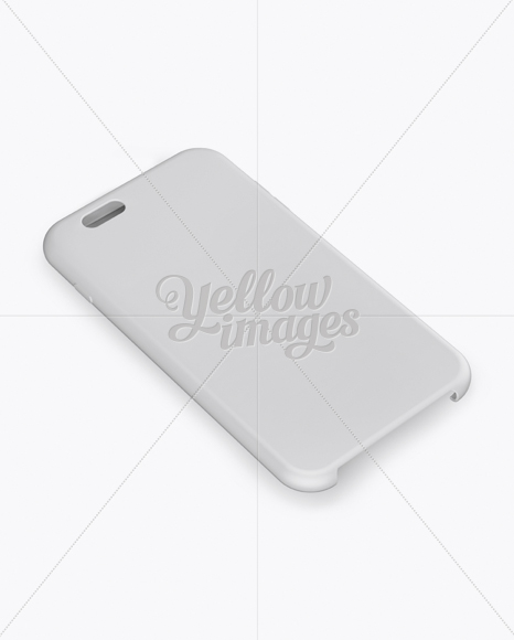 Phone Case Mockup - Half Side View (High-Angle Shot)