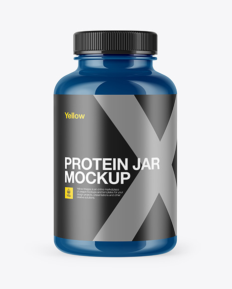 Download Free 300ml Glossy Protein Jar Mockup PSD Template