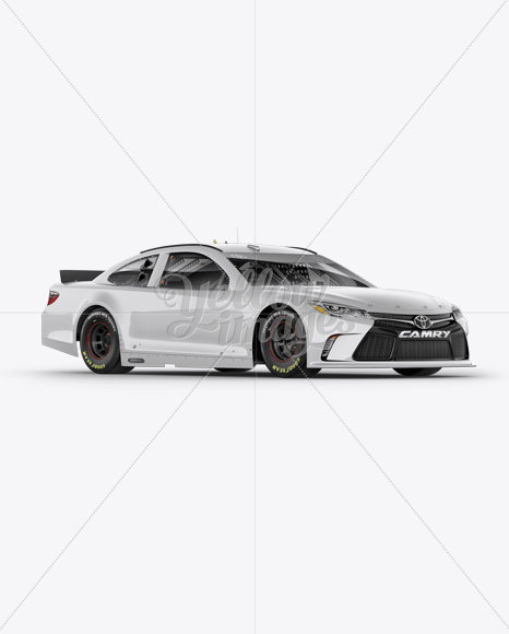 Download Nascar Camry Mockup Right Half Side View In Vehicle Mockups On Yellow Images Object Mockups PSD Mockup Templates