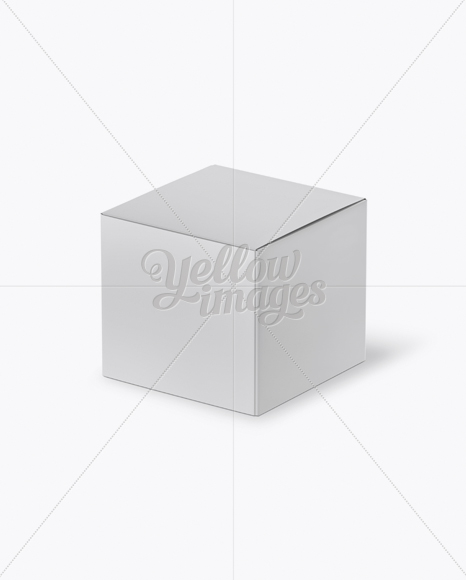 Paper Box - Half Side View (High-Angle Shot)