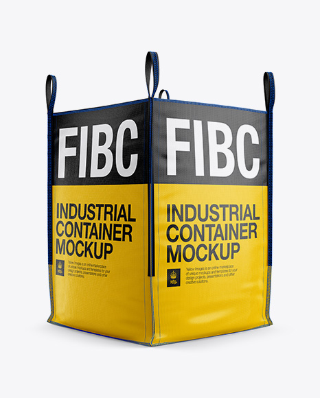 FIBC Big Bag Mockup - Half Side View