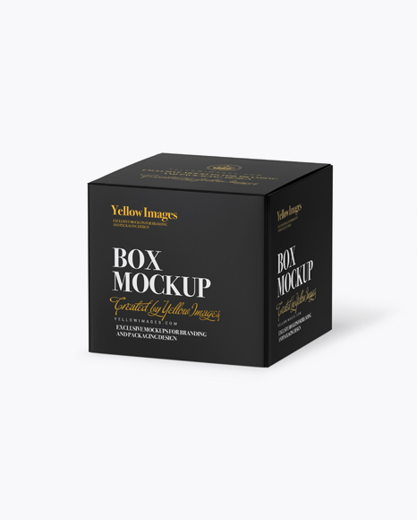 Download Paper Box - Half Side View (High-Angle Shot) Object Mockups