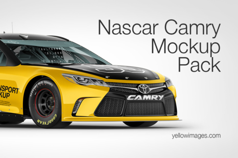 Download Nascar Camry Mockup Pack In Handpicked Sets Of Vehicles On Yellow Images Creative Store Yellowimages Mockups