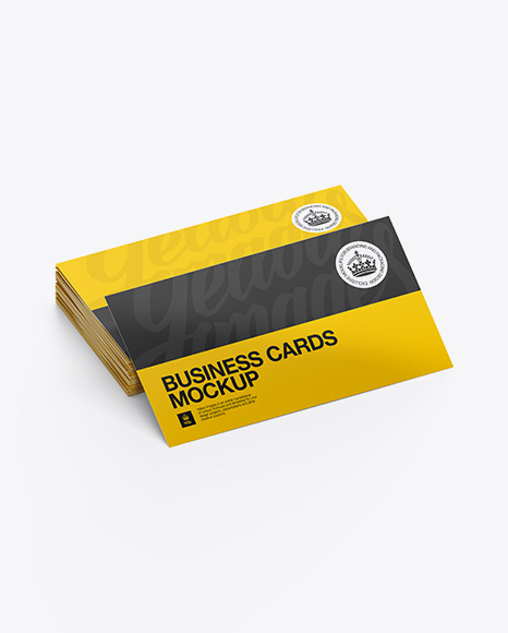Glossy business cards stack mockup half side view in stationery glossy business cards stack mockup half side view colourmoves