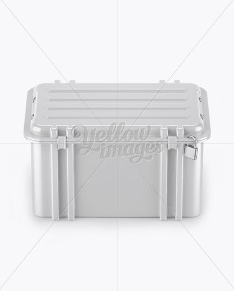 Glossy Hard Case Mockup - Front View (High-Angle Shot)