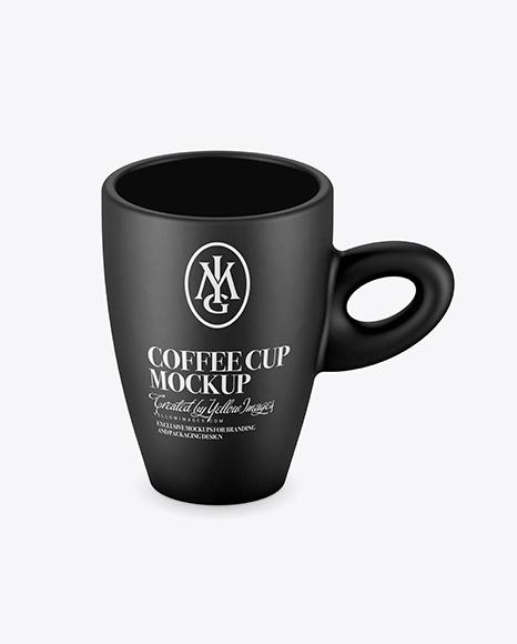 Download Matte Cup Mockup (High-Angle Shot) Object Mockups