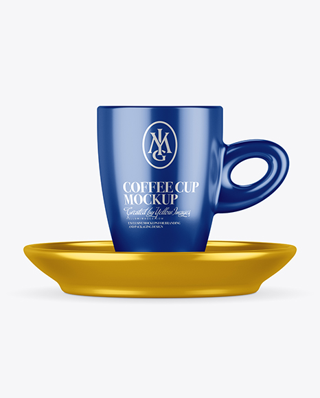 Download Metallic Cup and Saucer Mockup Object Mockups