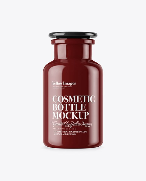 Download Glossy Cosmetic Bottle Mockup Object Mockups