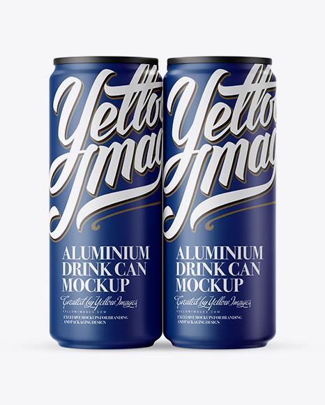 Download 500ml Matte Aluminium Drink Can Mockup PSD - Free PSD Mockup Templates