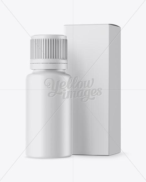 Matte Bottle W/ Box Mockup