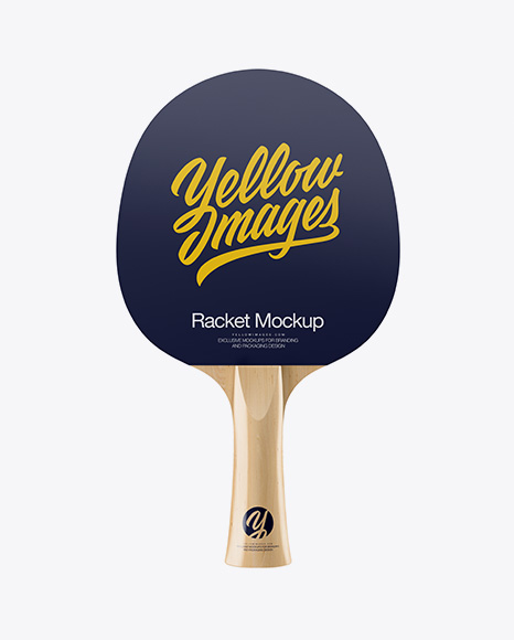 Glossy Ping Pong Paddle - Front View