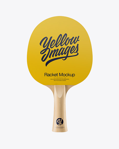 Matte Ping Pong Paddle - Front View