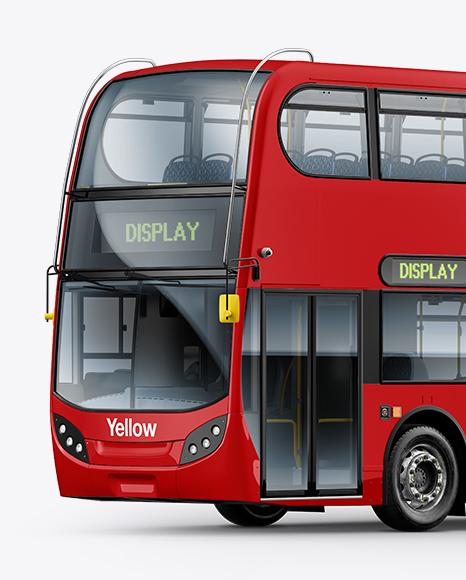 London Bus Enviro 400 Mockup - Left Half Side View
