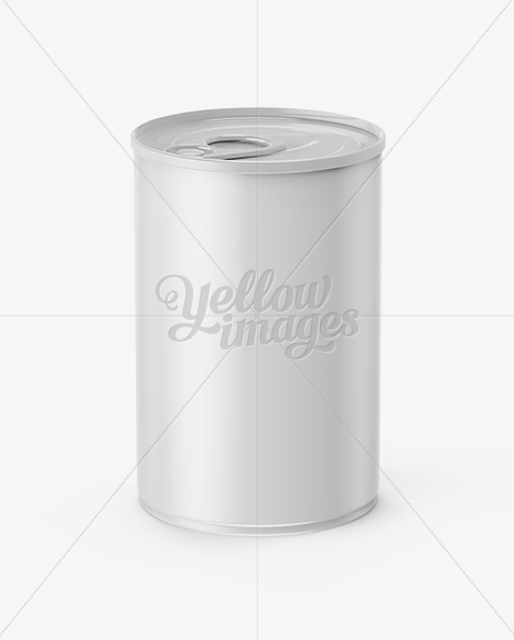 Glossy Tin Can With Pull Tab Mockup (High-Angle Shot)