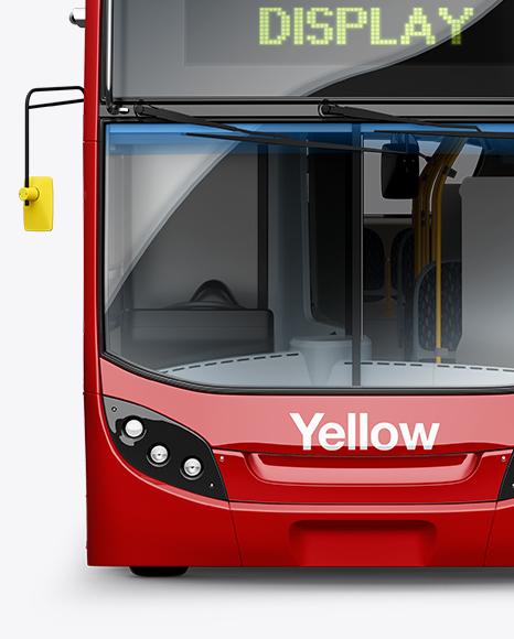 London Bus Enviro 400 Mockup - Front View