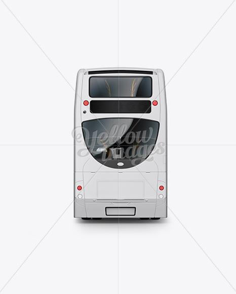London Bus Enviro 400 Mockup - Back View