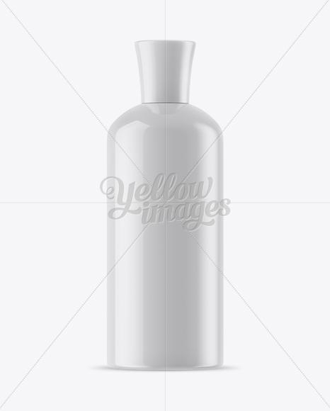 Glossy Shampoo Bottle Mockup