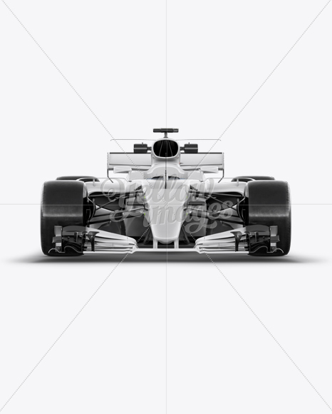 Download 2017 Formula 1 Car Front View Mockup In Vehicle Mockups On Yellow Images Object Mockups PSD Mockup Templates