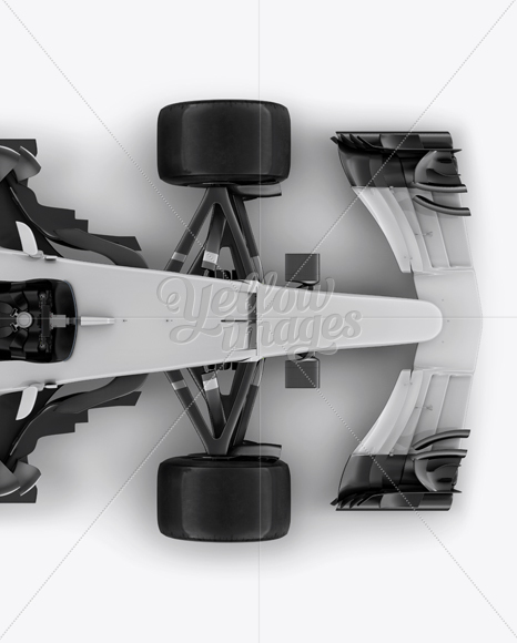 2017 Formula 1 Car Top view Mockup