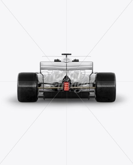 Download 2017 Formula 1 Car Mockup Back View In Vehicle Mockups On Yellow Images Object Mockups PSD Mockup Templates