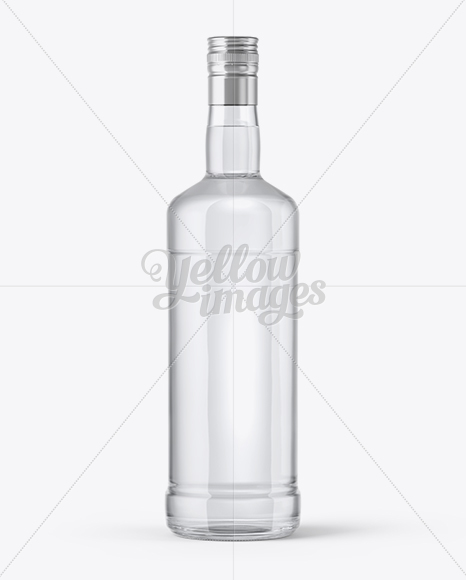 Download Clear Glass Vodka Bottle Mockup In Bottle Mockups On Yellow Images Object Mockups PSD Mockup Templates