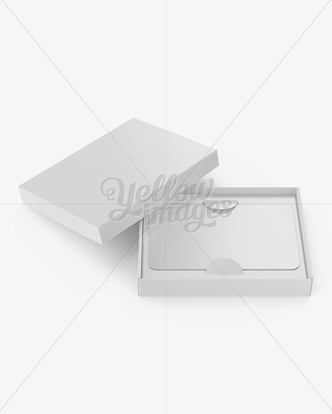 Gift Card in a Box Mockup - Front View (High-Angle Shot)