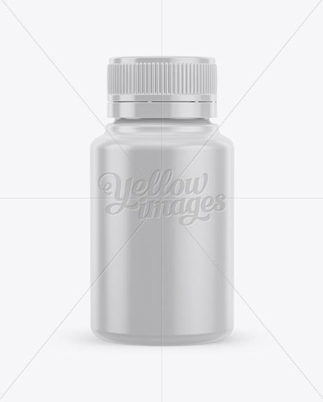 Plastic Pill Bottle Mockup