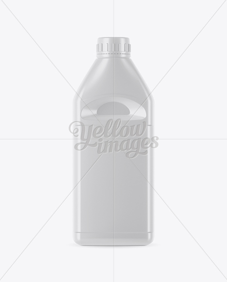 Glossy Plastic Jerrycan Mockup