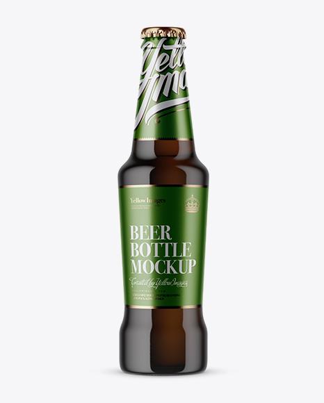 Download Amber Beer Bottle Mockup Object Mockups
